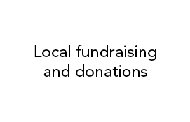 Local fundraising and donations